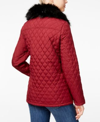 Tommy Hilfiger Faux-Fur Quilted Barn Jacket