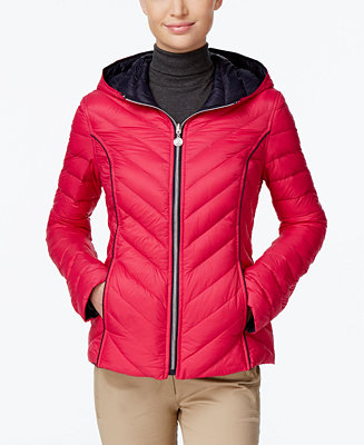 Nautica Reversible Hooded Packable Puffer Coat Only At