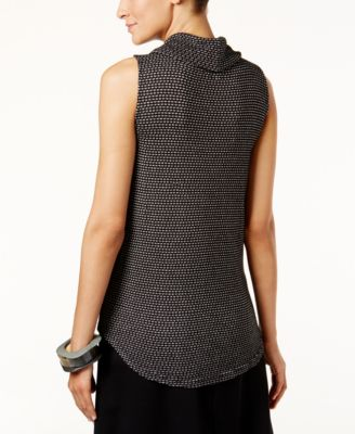 Alfani Printed Cowl-Neck Shell