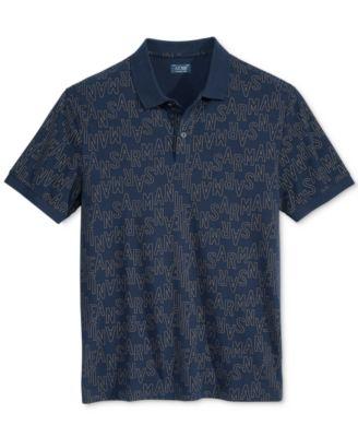 Armani Jeans Mens Graphic-Print Logo P..