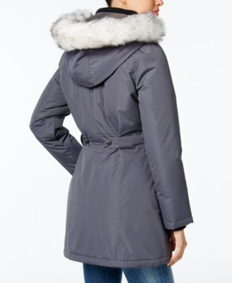 Wildflower Hooded Faux-Fur-Trim Parka Image