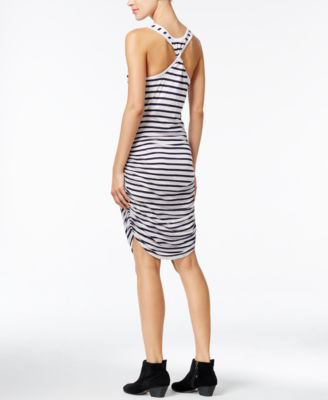 chelsea sky Striped Ruched Dress