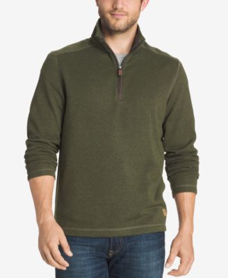 G.H. Bass & Co. Mens Zip-Neck Fleece P..
