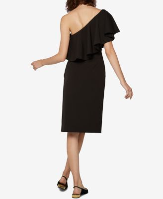 Fame and Partners One-Shoulder Ruffled Dress