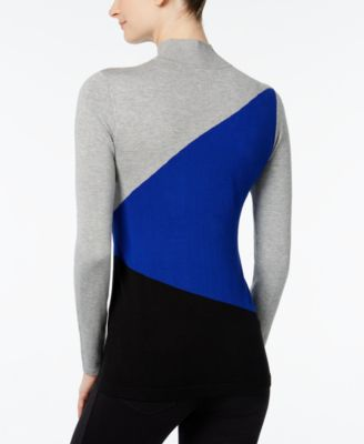 Calvin Klein Colorblocked Mock-Neck Sw..
