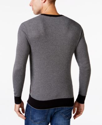 Michael Kors Mens Geo Jacquard Sweater