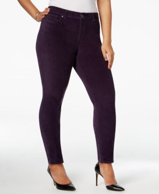 Style & Co. Plus Size Velvet Skinny Pants, Only at Macy's