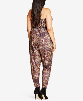 City Chic Trendy Plus Size Strapless Jumpsuit