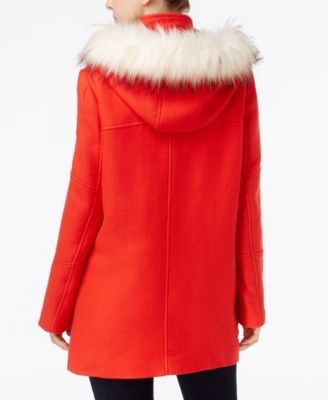 Maison Jules Faux-Fur-Trim Hooded Parka