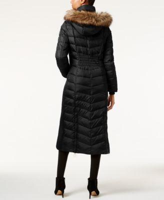 MICHAEL Michael Kors Petite Faux-Fur-Trim Down Maxi Coat