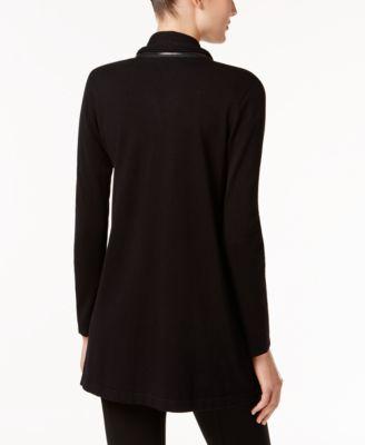 Alfani Petite Zip-Collar Cardigan