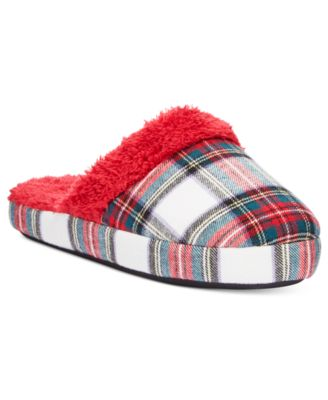 Charter Club Printed Flannel Slippers