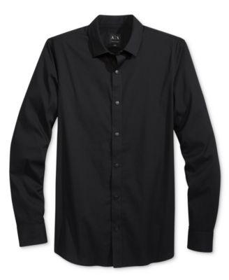 Armani Exchange Mens Black Texture-Str..