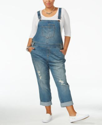 American Rag Trendy Plus Size Ricarda Wash Overalls, Only at Macy's