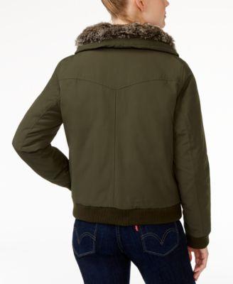Levis® Faux-Fur-Trim Bomber Jacket