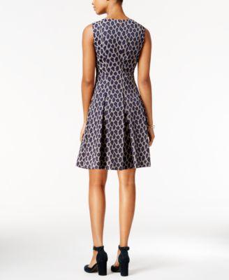Tommy Hilfiger Leopard-Print Fit & Flare Dress