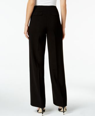 Calvin Klein High-Waist Wide-Leg Pants