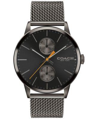 COACH Men's Metropolitan Gunmetal Stainless Steel Mesh Bracelet Watch 42mm 14602122