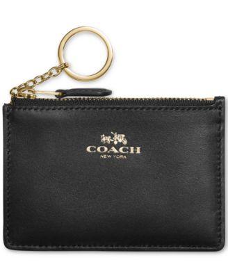 COACH Boxed Mini Skinny ID in Calf Leather