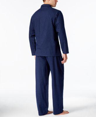 Club Room Mens Pinstriped Flannel Pajama Set