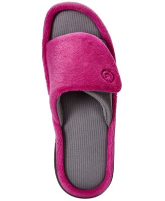 Isotoner Signature Womens Microterry Adjustable Slides
