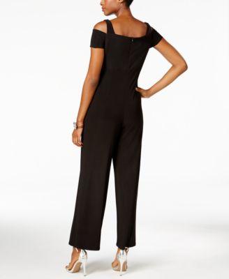 Nightway Petite Cutout Wide-Leg Jumpsuit
