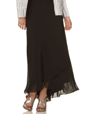 Alex Evenings Skirt Long Tiered