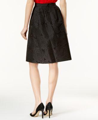 Calvin Klein A-Line Jacquard Skirt
