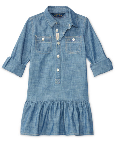 ralph lauren chambray shirt toddler girls 2t 4t