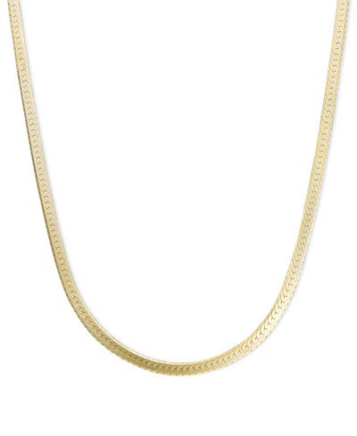 14k gold necklace 20 flat herringbone chain necklaces for L love jewelry reviews
