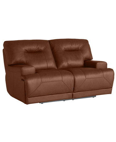 Ricardo Leather Power Reclining Loveseat - Furniture - Macy's