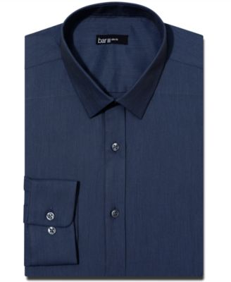 Bar III Slim-Fit Solid Dress Shirt