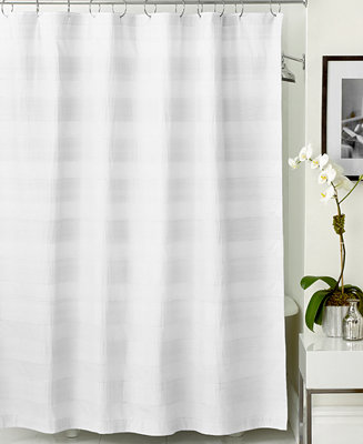 Hotel Collection Woven Pleat Shower Curtain Shower Curtains Bed Bath Macy 39 S