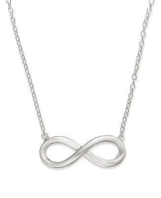 Giani bernini sterling silver necklace infinity pendant for Macy s jewelry clearance