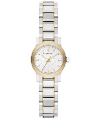Burberry Watch Womens Swiss Two-Tone Stainless Steel Bracelet 26mm BU9217