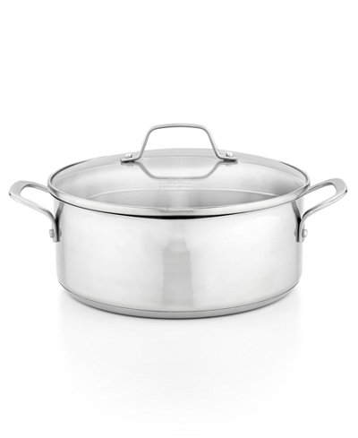 Calphalon Classic Stainless Steel 5 Qt Covered Dutch Oven