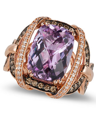 Le vian amethyst 5 2 4 ct t w and diamond 3 4 ct t w for Macy s jewelry clearance