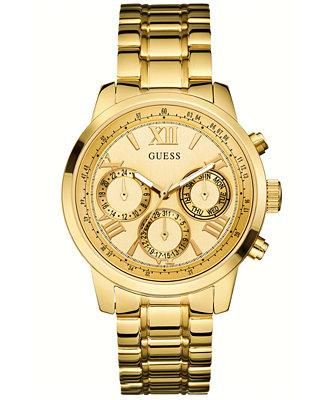 Guess Women S Gold Tone Stainless Steel Bracelet Watch