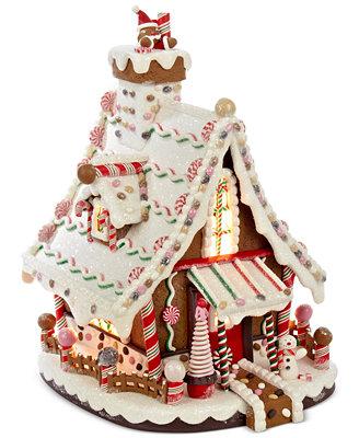 Kurt Adler Lighted Gingerbread House Holiday Lane For