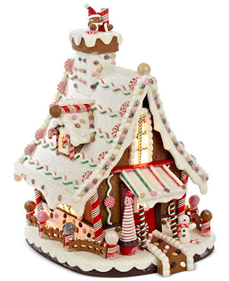 Kurt Adler Lighted Gingerbread House Holiday Lane For