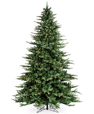 Sterling 9' Pre-Lit Highland Pine Christmas Tree - Holiday ...