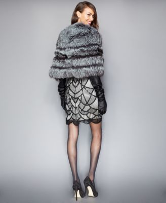 The Fur Vault Fox Fur Cropped Cape