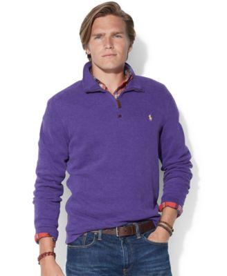 Polo Ralph Lauren French-Rib Half-Zip Pullover Sweater