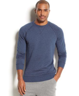 2xist Mens Loungewear Terry Pullover Sweatshirt