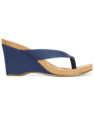 Style & Co. Chicklet Wedge Thong Sandals