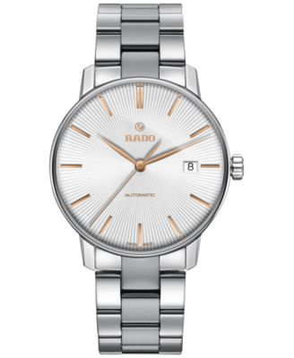 Rado Mens Swiss Automatic Coupole Classic Stainless Steel Bracelet Watch 38mm R22860023