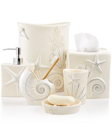 avanti bath sequin shells accessories collection