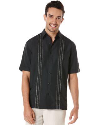 Cubavera Geometric Tucks Short-Sleeve ..
