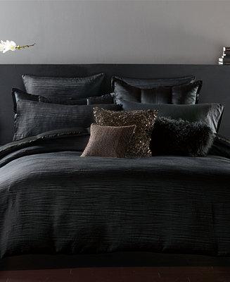 CLOSEOUT Donna Karan Home Reflection Ebony Bedding