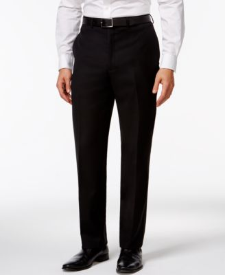 Calvin Klein Black Solid Slim-Fit Pants